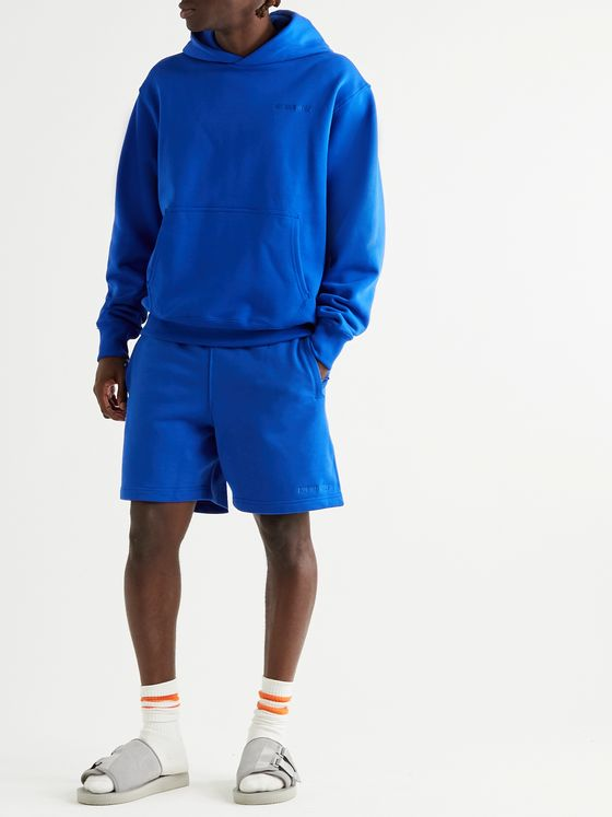 adidas Consortium + Pharrell Williams Basics Logo-Embroidered Loopback Cotton-Jersey Shorts