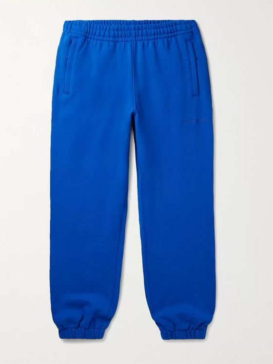 adidas Consortium + Pharrell Williams Basics Slim-Fit Logo-Embroidered Loopback Cotton-Jersey Sweatpants