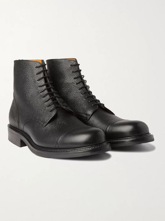 MR P. Heath Goodyear-Welted Full-Grain Leather Chore Boots