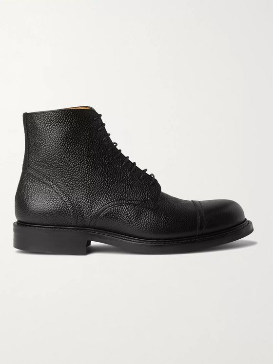 Mr P. Heath Full-Grain Leather Chore Boots