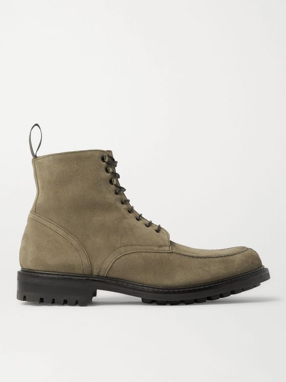 Mr P. Heath Shearling-Lined Split-Toe Suede Boots