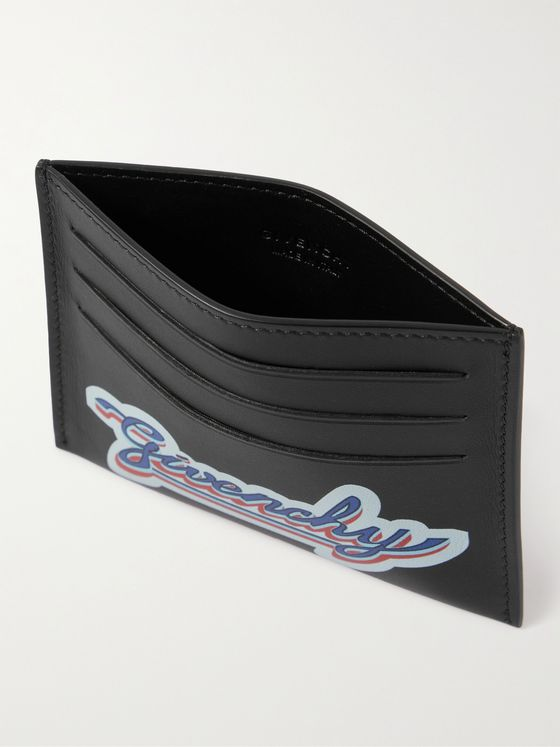 GIVENCHY Logo-Print Leather Cardholder