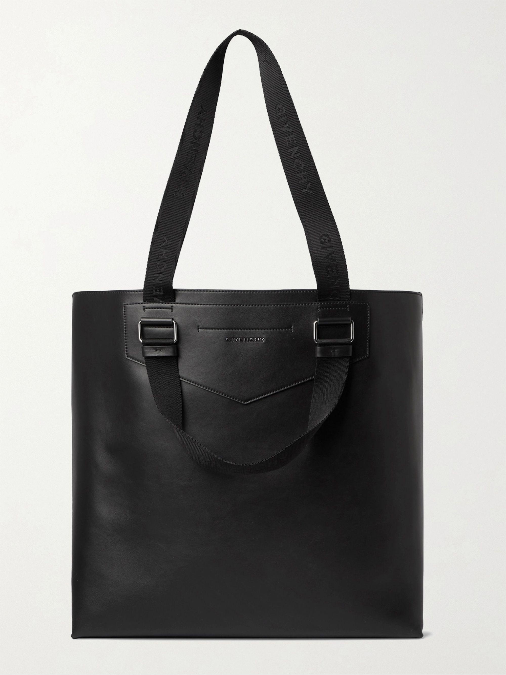 지방시 Givenchy Antigona Leather Tote Bag,Black