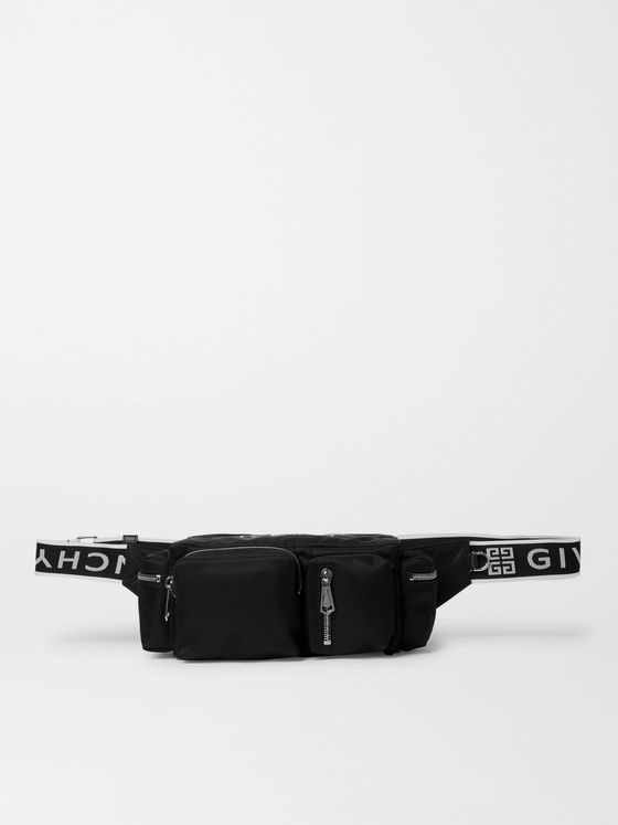GIVENCHY Logo Webbing-Trimmed Shell Messenger Bag