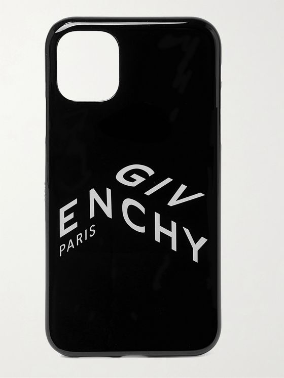 GIVENCHY Logo-Print PU iPhone 11 Case
