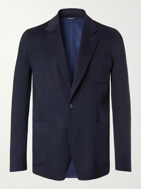 DOLCE & GABBANA Slim-Fit Unstructured Virgin Wool-Blend Blazer