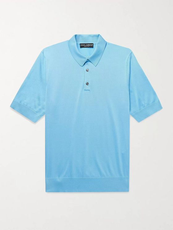 DOLCE & GABBANA Slim-Fit Silk Polo Shirt