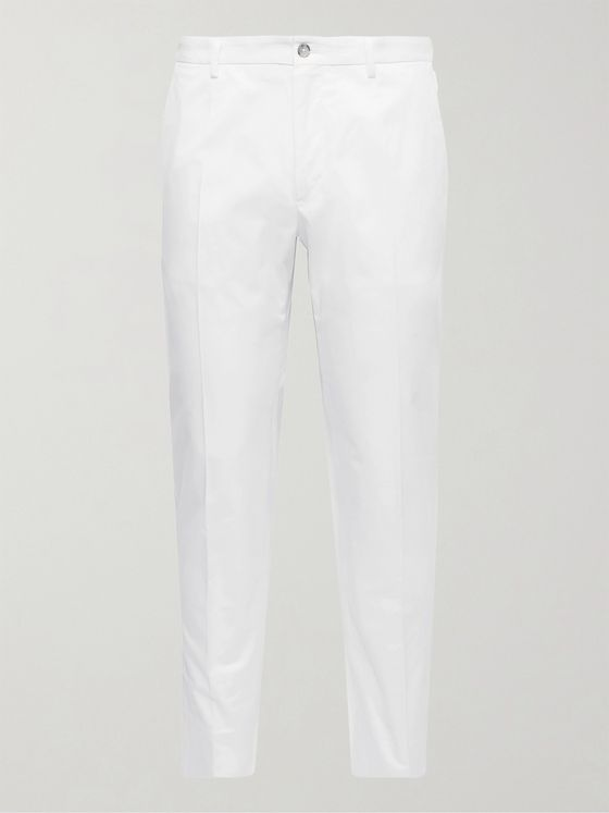 DOLCE & GABBANA Slim-Fit Stretch-Cotton Gabardine Chinos