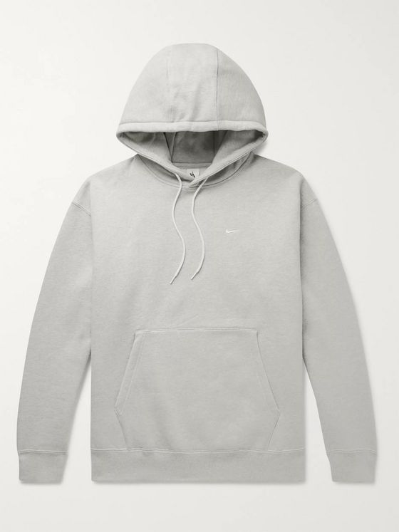 Nike NRG Mélange Fleece-Back Cotton-Blend Jersey Hoodie