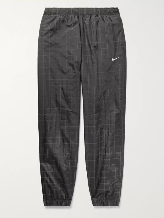 Nike NikeLab Flash Reflective Checked Shell Track Pants