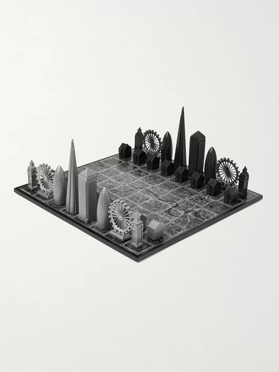 Skyline Chess London Premium Edition Metal and Wood Chess Set