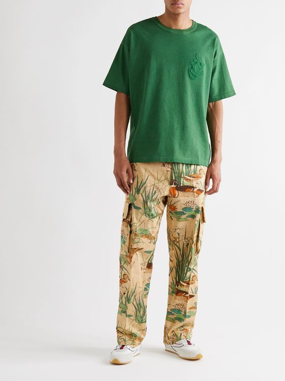 Moncler Genius + 1 JW Anderson Printed Cotton-Twill Cargo Trousers