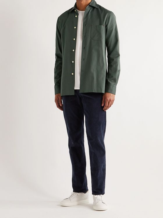 Kiton Cotton-Twill Shirt