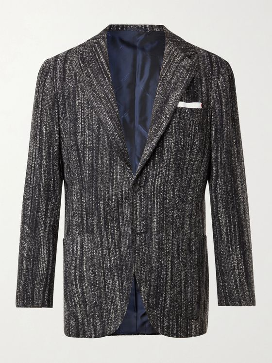 KITON Cashmere and Silk-Blend Bouclé Blazer