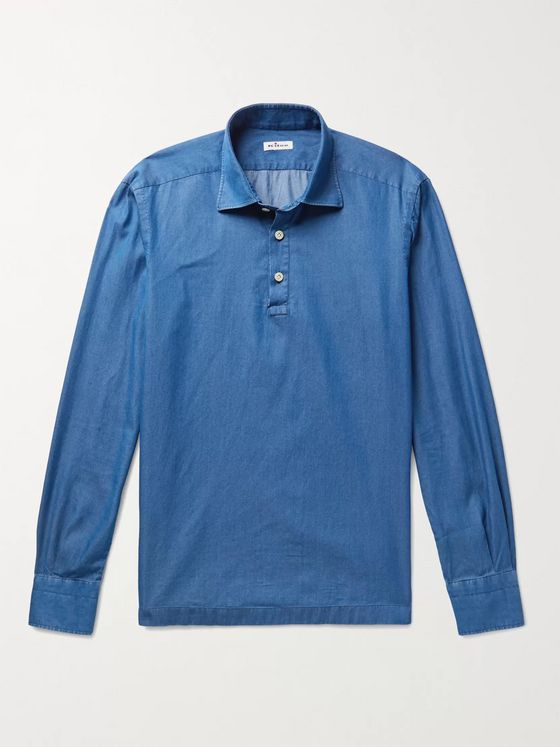 Kiton Cotton-Chambray Shirt