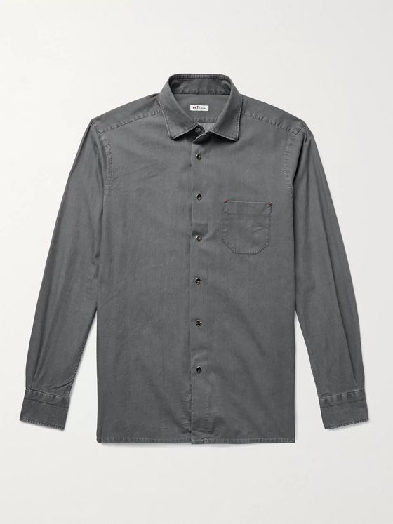 Kiton Slim-Fit Cotton-Flannel Shirt