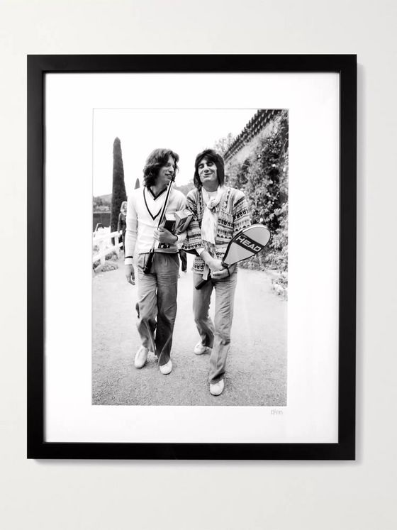 "Sonic Editions Framed 1976 Mick & Ronnie Hit the Courts Print, 16"" x 20"""