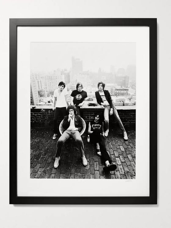 "Sonic Editions Framed 2003 New York Strokes Print, 16"" x 20"""