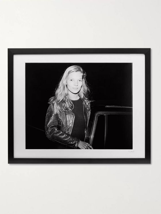 "Sonic Editions Framed 1994 Kate Moss Print, 20"" x 16"""