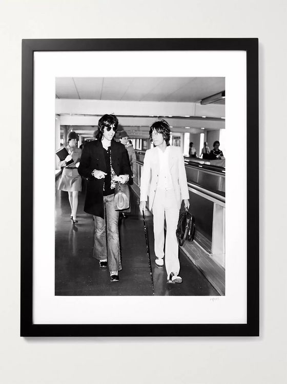 "Sonic Editions Framed 1972 Keith & Mick at the Airport Print, 16"" x 20"""