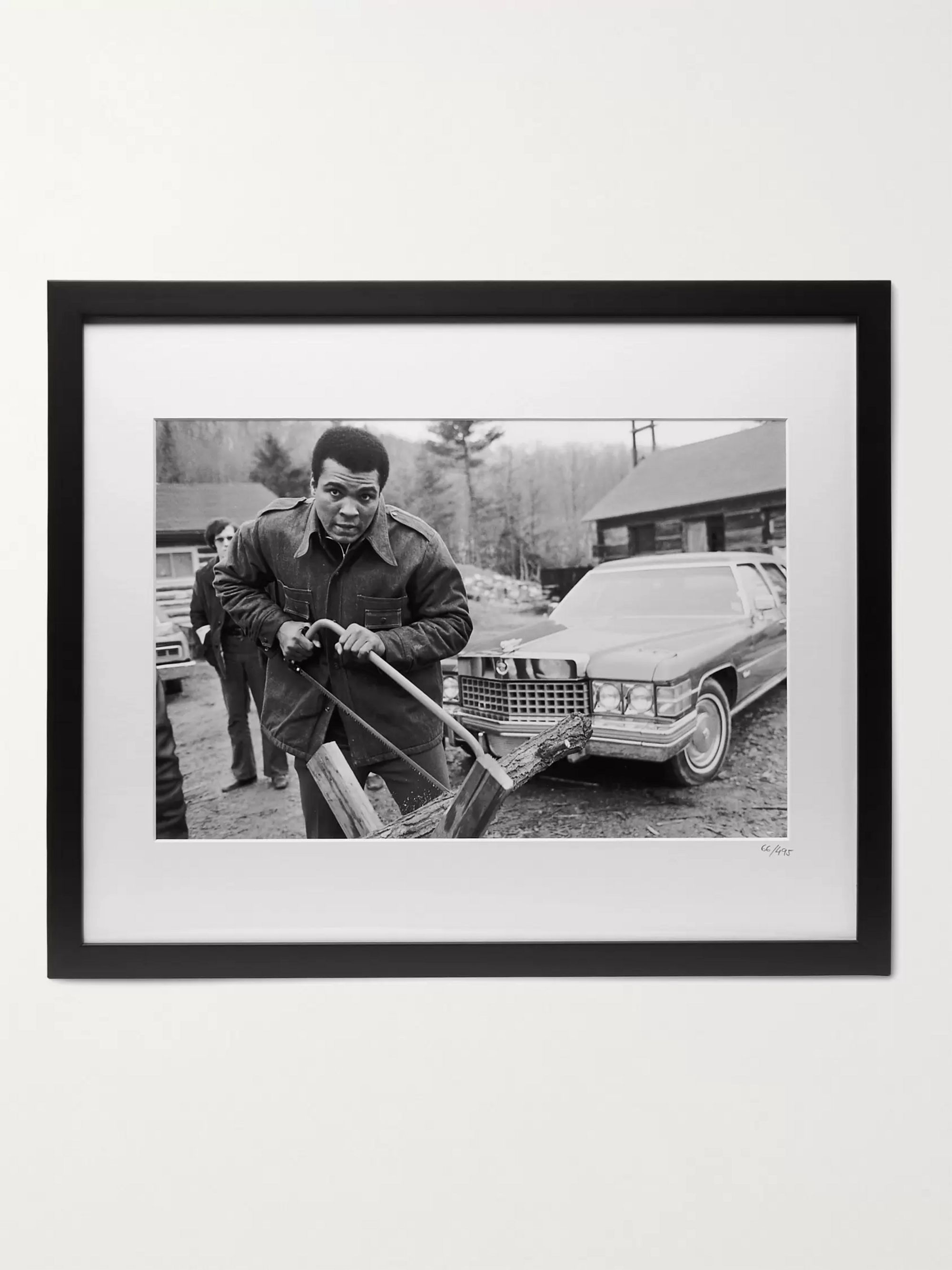"Sonic Editions Framed 1975 Muhammad Ali At Deer Lake Print, 20"" x 16"""