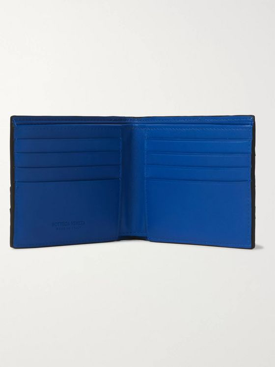 Bottega Veneta Colour-Block Intrecciato Leather Billfold Wallet