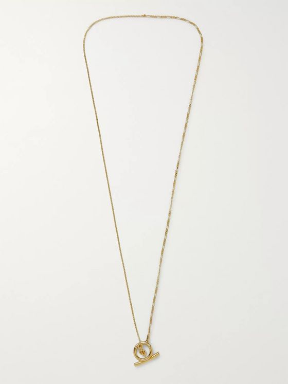 Bottega Veneta Gold-Tone Silver Necklace