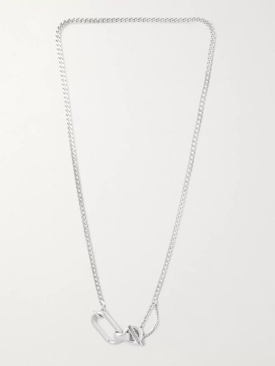 BOTTEGA VENETA Silver-Tone Chain Necklace