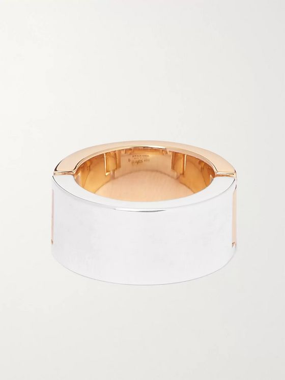 BOTTEGA VENETA Sterling Silver and Gold-Plated Ring
