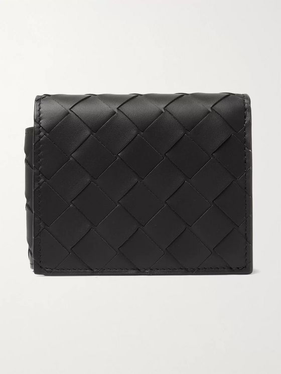 BOTTEGA VENETA Intrecciato Leather Trifold Wallet