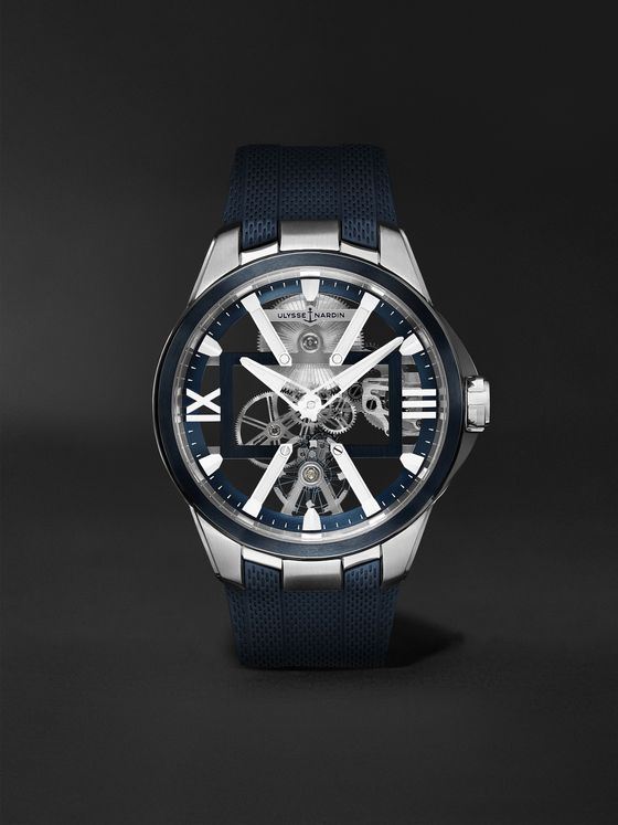 Ulysse Nardin Skeleton X Hand-Wound 42mm Titanium and Rubber Watch