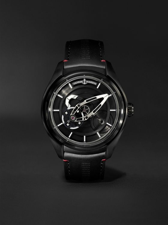 Ulysse Nardin Freak X Ti Automatic 43mm Titanium and Leather Watch, Ref. No. 2303-270.1