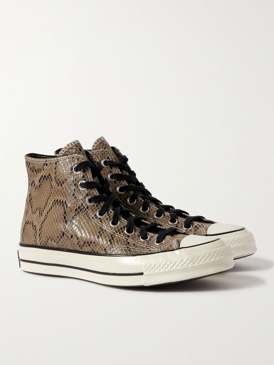 CONVERSE Chuck 70 Snake-Effect Leather High-Top Sneakers