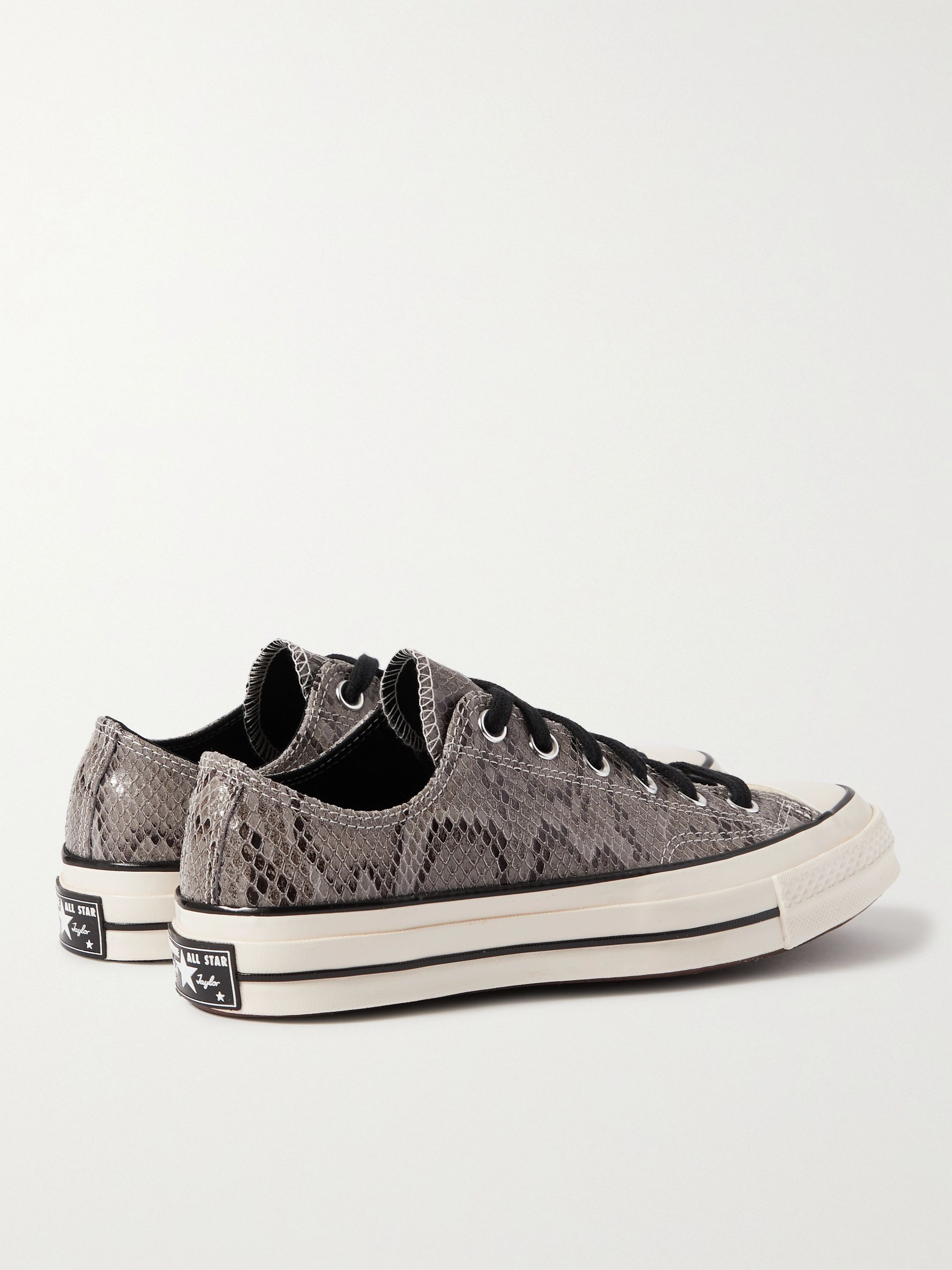 CONVERSE Chuck 70 Snake-Effect Suede Sneakers