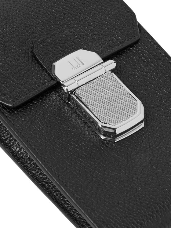 Dunhill Full-Grain Leather Cardholder with Lanyard
