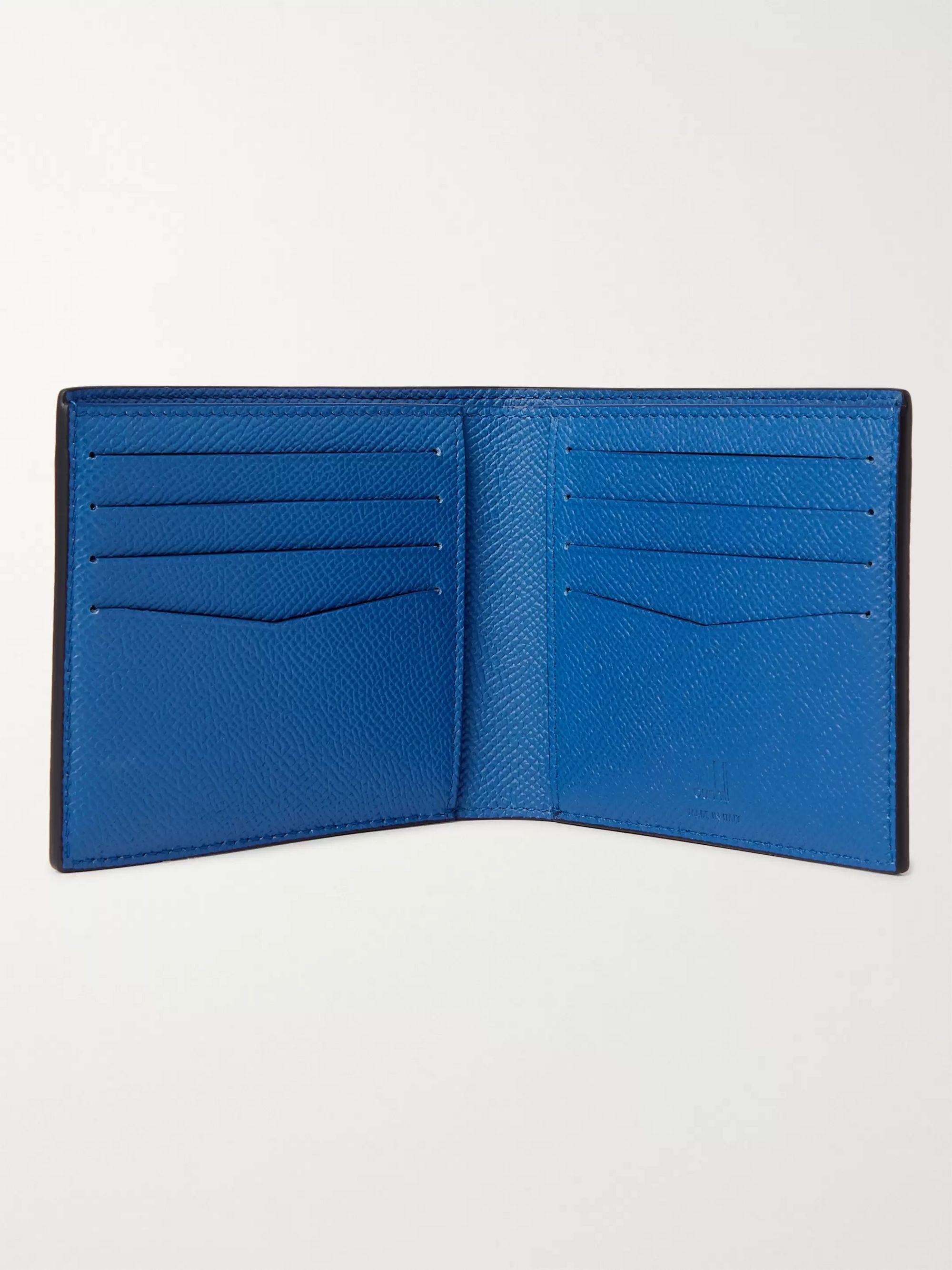 Navy Full-grain Leather Billfold Wallet | Dunhill