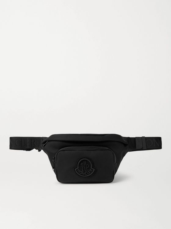 Moncler Durance Logo-Appliquéd Webbing-Trimmed Canvas Belt Bag