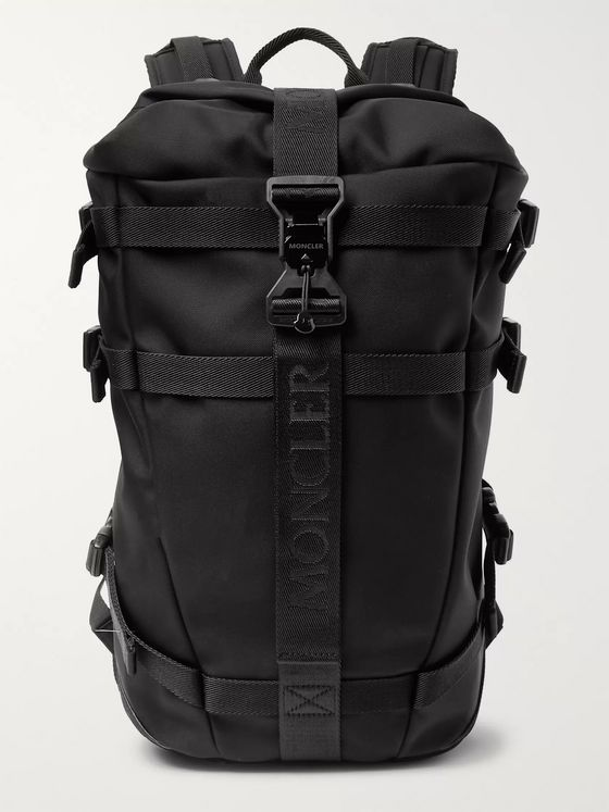 Moncler Argens Webbing and Suede-Trimmed Ripstop Backpack