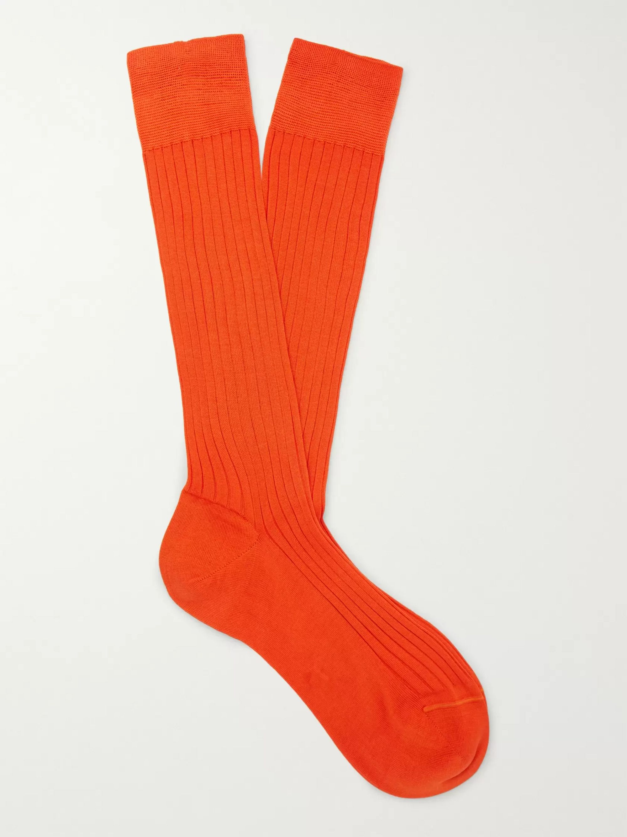 Charvet Ribbed Cotton Socks