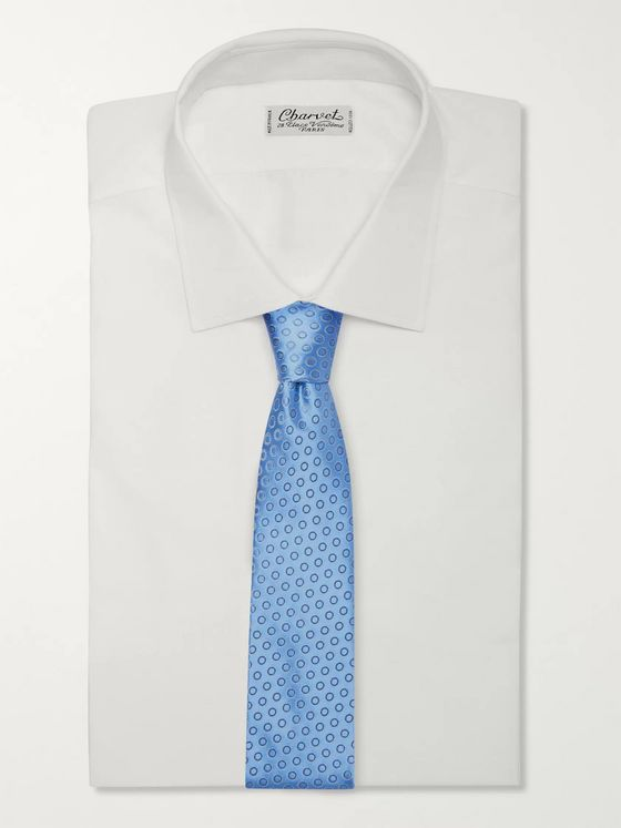 Charvet 8.5cm Embroidered Silk Tie