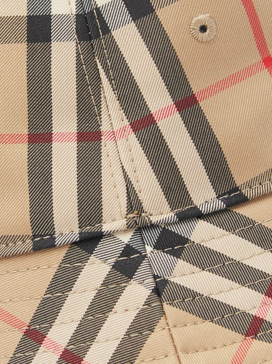 Burberry Checked Cotton-Blend Twill Bucket Hat