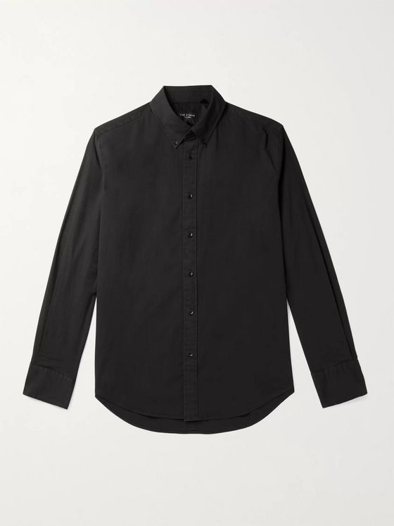 rag & bone Tomlin Fit 2 Slim-Fit Button-Down Collar Stretch-Cotton Poplin Shirt