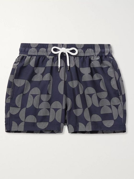 FRESCOBOL CARIOCA Short-Length Printed Swim Shorts