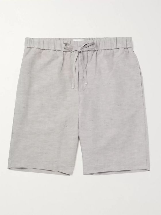 FRESCOBOL CARIOCA Mélange TENCEL and Linen-Blend Drawstring Shorts