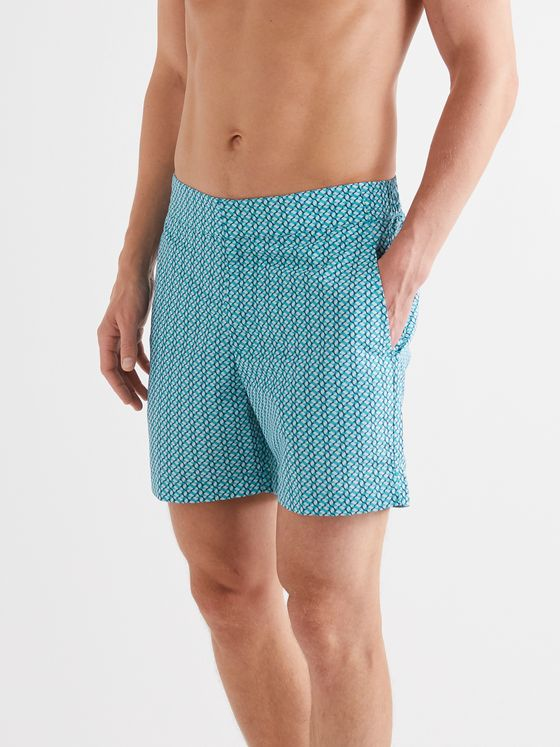 FRESCOBOL CARIOCA Beam Mid-Length Printed Swim Shorts