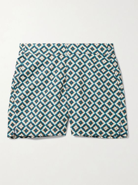 FRESCOBOL CARIOCA Pangra Short-Length Printed Swim Shorts