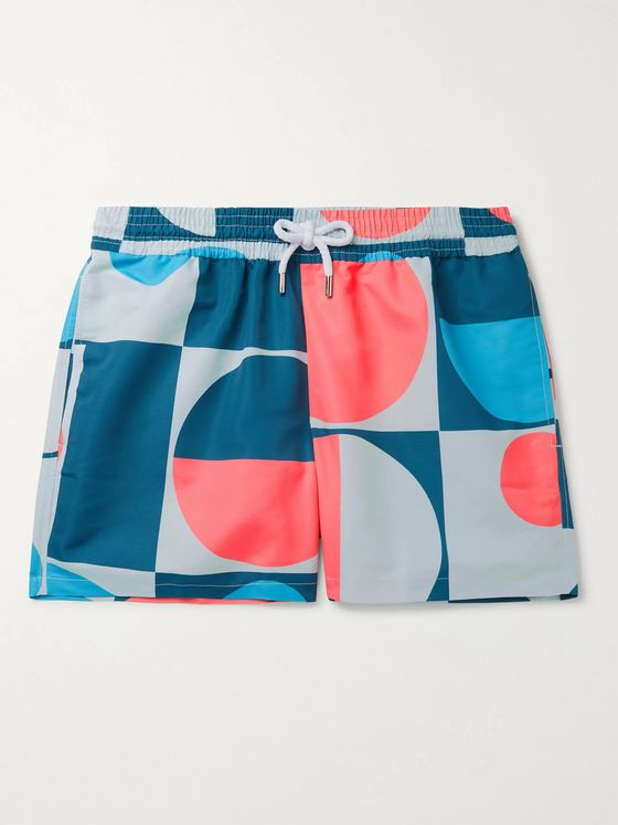 FRESCOBOL CARIOCA Copic Mid-Length Printed Swim Shorts