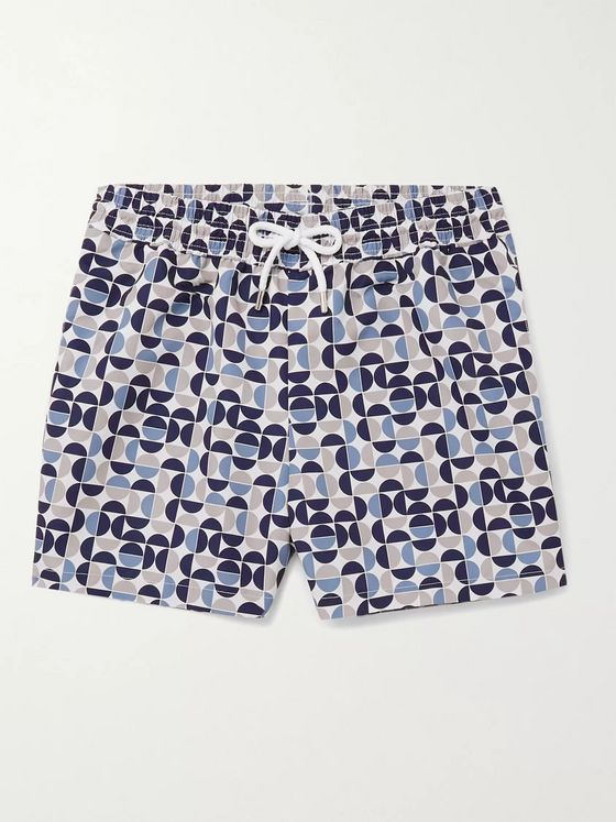 FRESCOBOL CARIOCA Shade Mid-Length Printed Swim Shorts