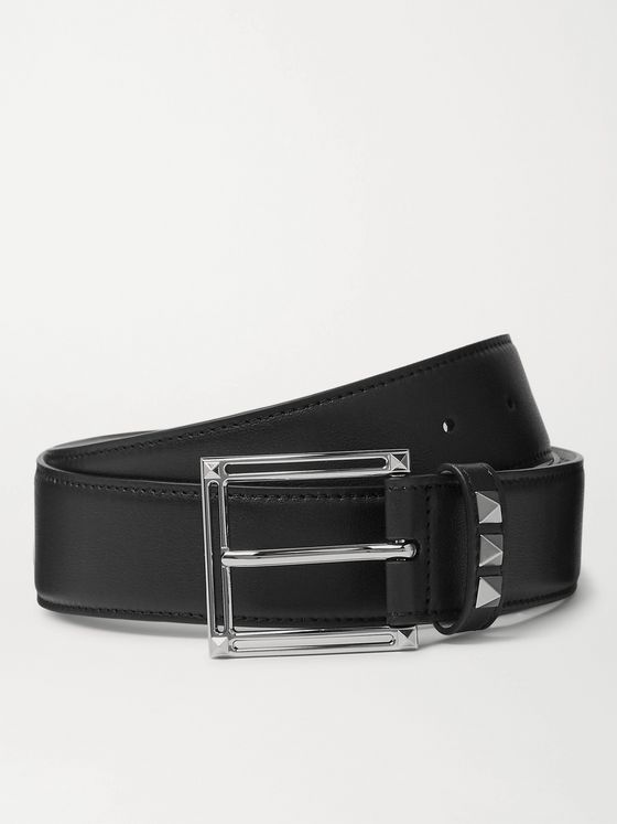 VALENTINO 3.5cm Rockstud Leather Belt