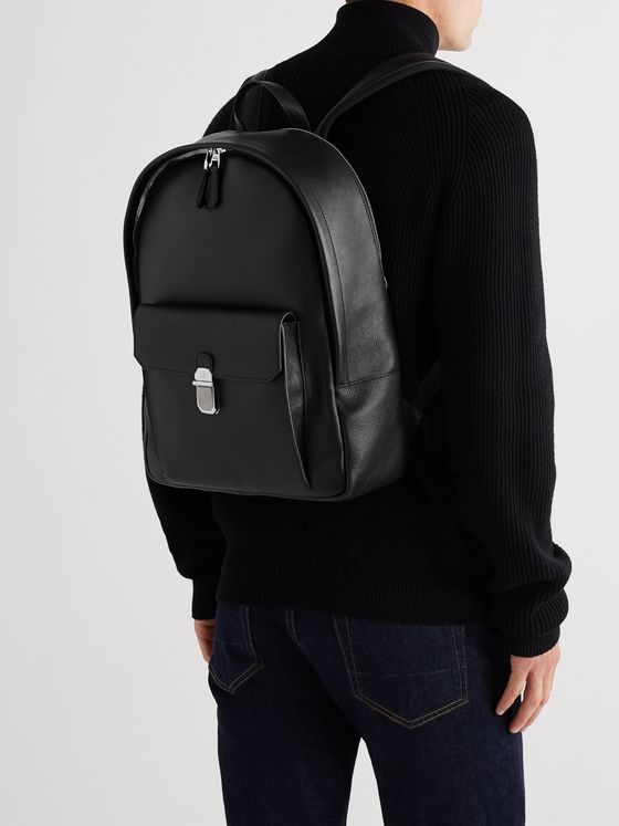Dunhill Belgrave Full-Grain Leather Backpack